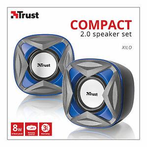 Trust-21182-Xilo-2-0-8W-Max-4W-Rms-juego-de-altavoces-alimentado-por-USB-para-PC-Laptop-Etc
