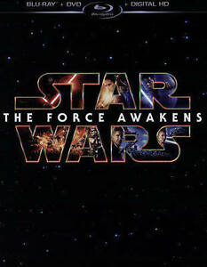 Star Wars: The Force Awakens (Blu Ray/DVD, 2016, 3 Disc Set, Includes  Digital Copy)