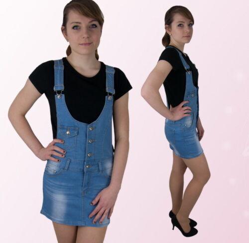 Damen Jeans Mini ROCK Latz Latzrock Blau 34 36  40
