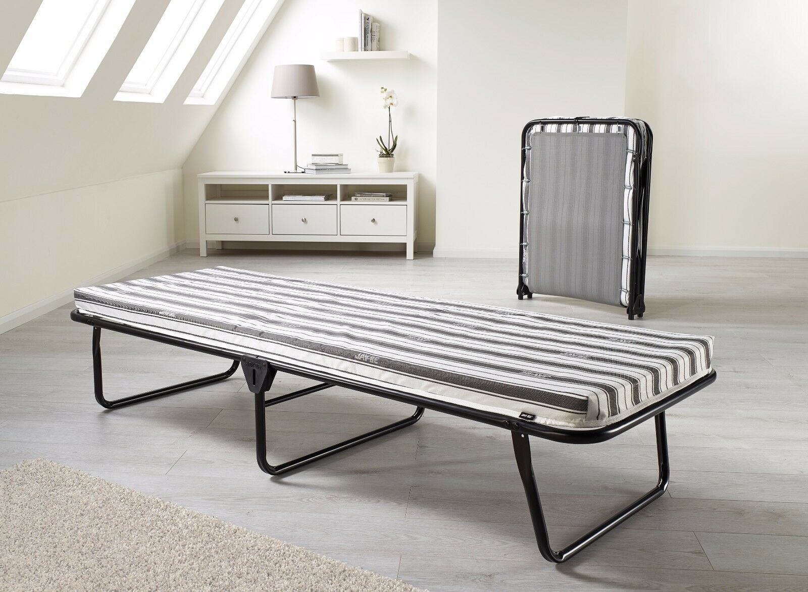 - Jaybe Guest Value Single Small Double Folding Bed With Airflow