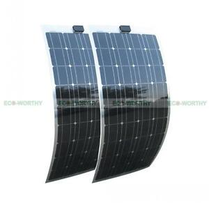200w 2 100w Mono Flexible Solar Panel 12v 100watt 12volt