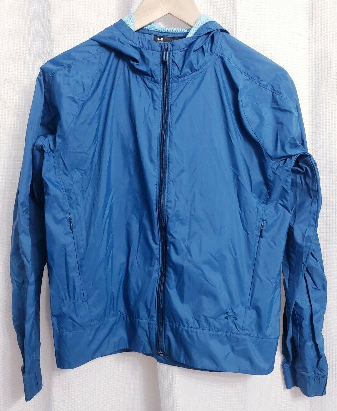 Under Armour Turquoise Lightweight Nylon Jacket Women's size XS