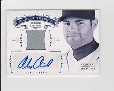 2012 National Treasures ALEX AVILA Auto Autograph Jersey #24/49