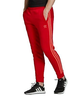 Adidas Originals Men's 3 Stripes Pants Scarlet Flash Red EJ9694 d | eBay