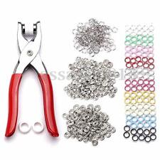 100PCS 9.5mm Prong Pliers Ring Press Studs Snap Popper Fasteners Silver DIY Tool