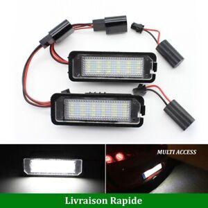 Eclairage-de-plaque-d-039-immatriculation-LED-Blanc-VW-Golf-4-5-6-7-Polo-Passat-Eos