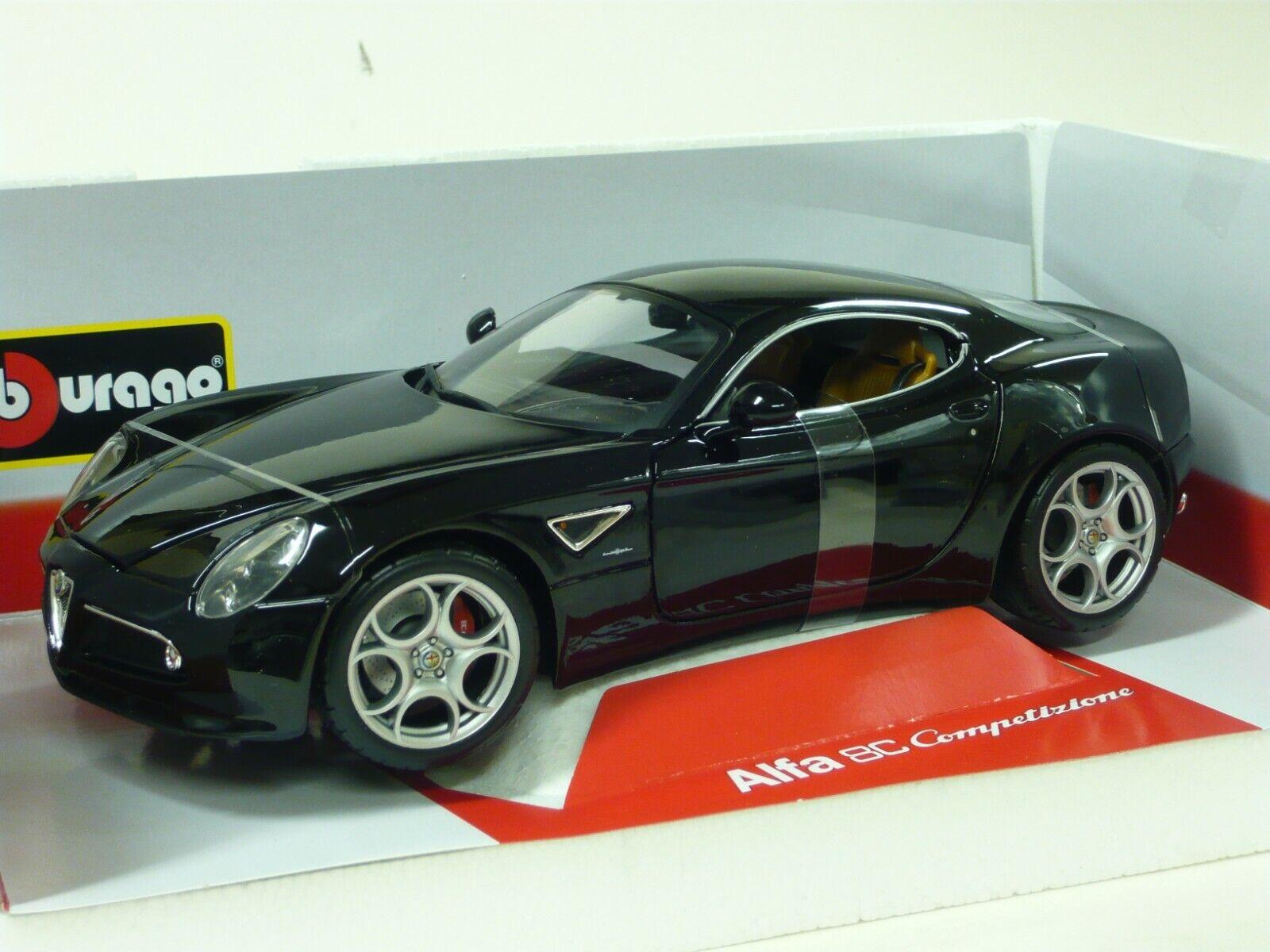 1 18 Alfa Romeo 8C Competizion Coupe Burago in schwarz