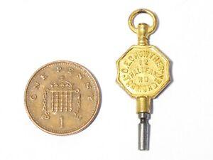 Antique G.E. Crowther Todmorden Gilt Metal Pocket Watch Key Winder #WK5