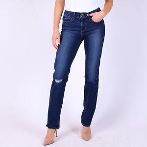Levi-039-s-314-Shaping-Straight-Blau-Damen-Jeans-DE-34-W27-L32