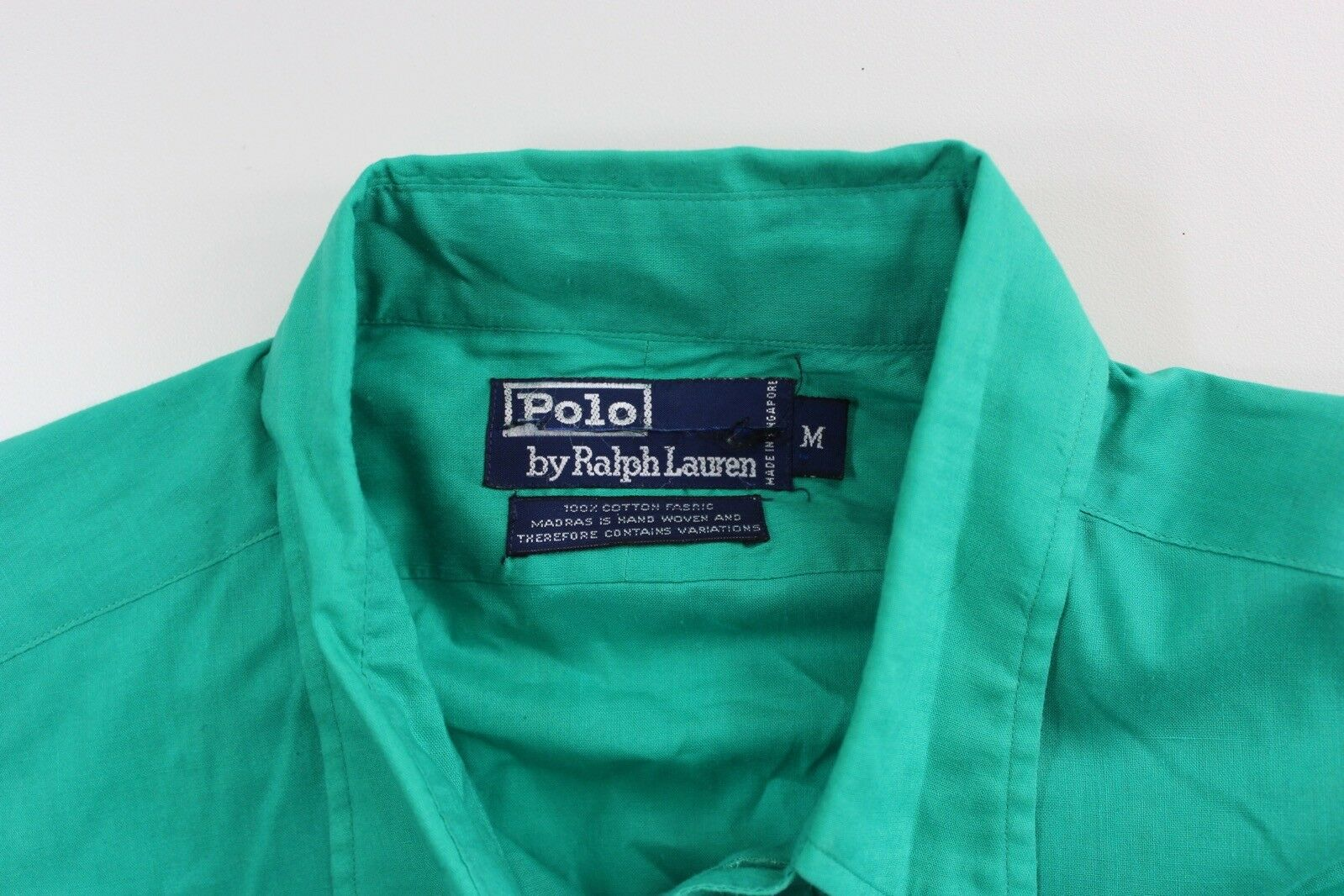 VTG 80's 90's Polo Ralph Lauren Happy Green Butto… - image 4