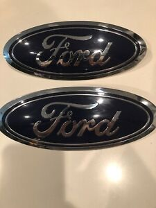 """9/"""" FRONT OR REAR 2004-2015 FORD F-150 /& Edge WHITE GRILL EMBLEM"""