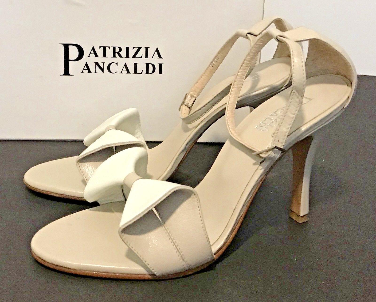 Patrizia Pancaldi Designer Nappa cuir talons, NEUF avec boite, made in