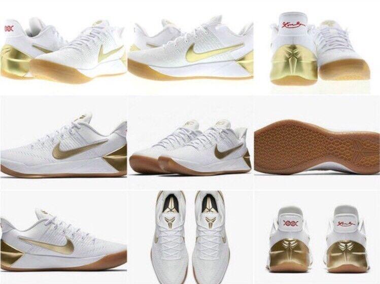 Nike ep kobe 12 n. chr. ep Nike xii weiße metallisches gold olympia große bühne 852425-107 sz 10 1aa9f0
