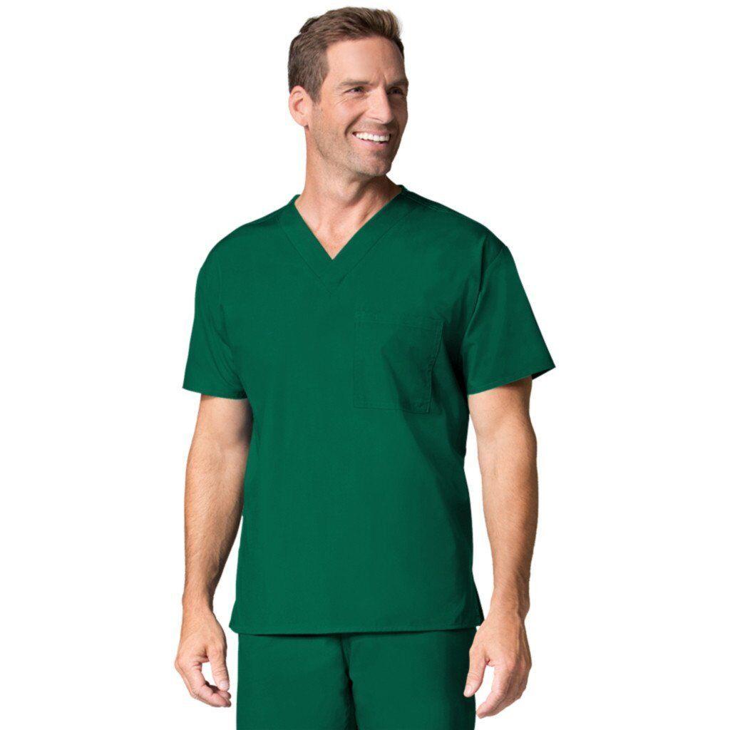 Maevn 1006 Unisex Tasca V-Neck Verde 2XS Cacciatore Medico Scrub Top,Taglie 2XS Verde -2XL 505a9a
