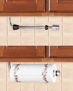 under cabinet stainless steel paper towel holder w stopper wall mount hanging ebay. Black Bedroom Furniture Sets. Home Design Ideas
