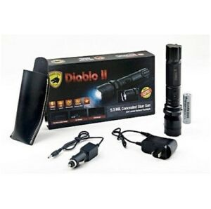 THE NEW GUARD DOG DIABLO II - 5 Million Stun Gun + 320 Lumen Tactical Flashlight
