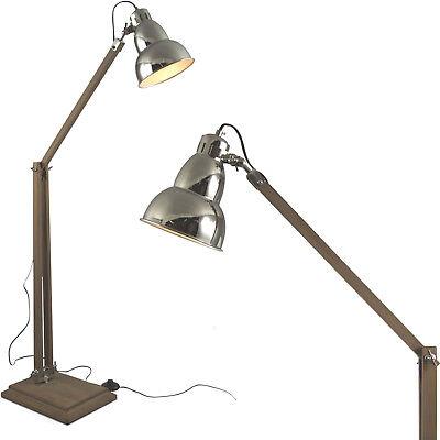 Tripod Stehlampe Stehleuchte Lampenschirm Retro Vintage Lampe Holz Leuchte ml39