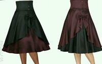 Rockabilly Work Vintage Pin Up Formal Retro Swing Dress 50s Dance Skirt N71