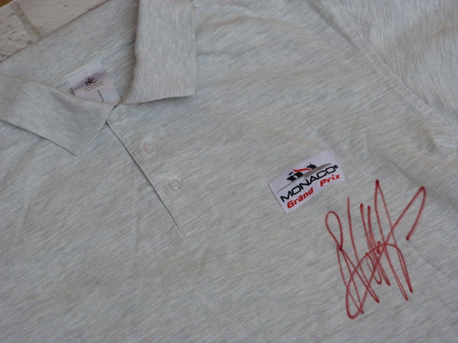 Polo T shirt MONACO GRe PRIX signed SEBASTIAN VETTEL gp mc F1 Formule 1