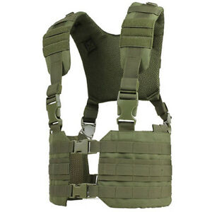 CONDOR MCR7 OD GREEN RONIN MOLLE Chest Rig Quick Release Split Padded H-Harness
