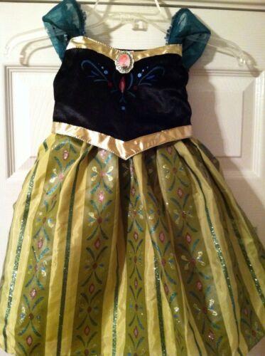 Authentic DISNEY PARKS World Frozen Princess ANNA Coronation Dress COSTUME 10//12