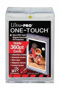 3-Ultra-Pro-ONE-TOUCH-MAGNETIC-360pt-UV-Card-Holder-Display-Case-82719-UV-360