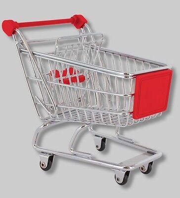 Reinweiß Und LichtdurchläSsig minieinkaufswagen Pylones Bürohelfer Rot
