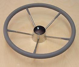 """Victory CN7303G Steering Wheel 13.5/"""" Grey Wrap Stainless Steel 135-1055"""