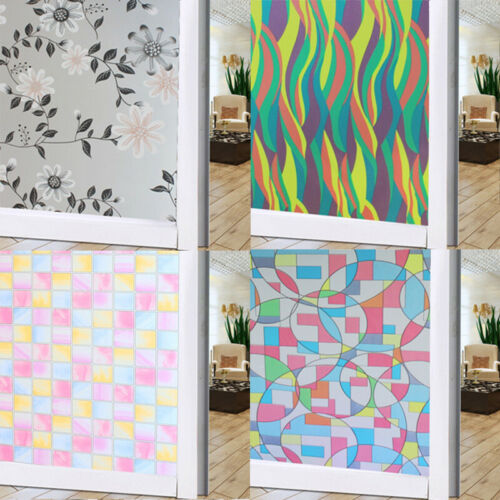 PVC Frosted Household Privacy Film Sticker Home Bathroom Glass Window Door UK