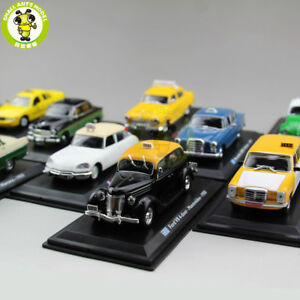 1-43-Citroen-Benz-VW-Fiat-GAZ-Ford-Renault-Austin-Diecast-Taxi-Car-Model-toy