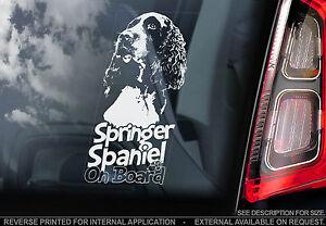 English-Springer-Spaniel-Car-Window-Sticker-Gun-Dog-on-Board-nt-welsh-V02