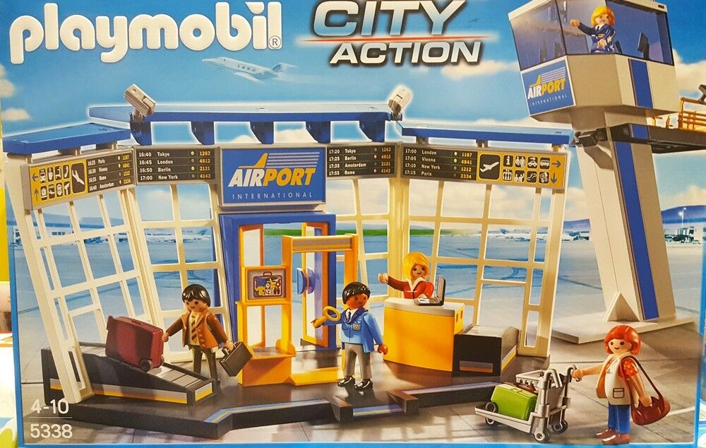 Playmobil City Action City-Flughafen Tower 5338 Airport Check-In Gepäckabgabe