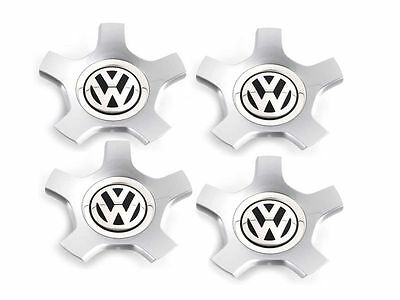4x OEM Genuine VW Golf MK5 R32 Wheel Centre Hub Cap Diamond Silver 3C0601149R8Z8