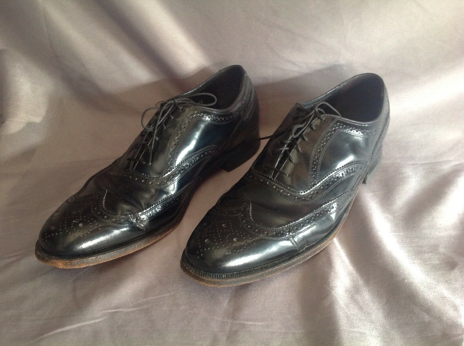 Florsheim 20330 USA Wing Tip Leather Dress Black Formal Oxfords Men US 10B