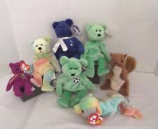 Holy Bear, Limited Treasures Bear, & Ty Beanie Babies, Lot of 7