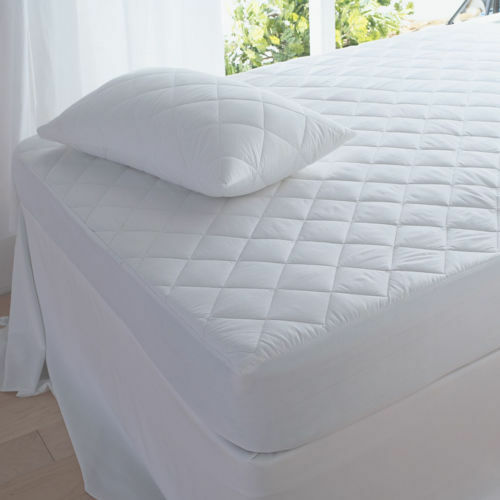 Quilted Mattress Protector 30cm Deep Fitted Pillow, Bunk, 4ft, Single, Doubl...