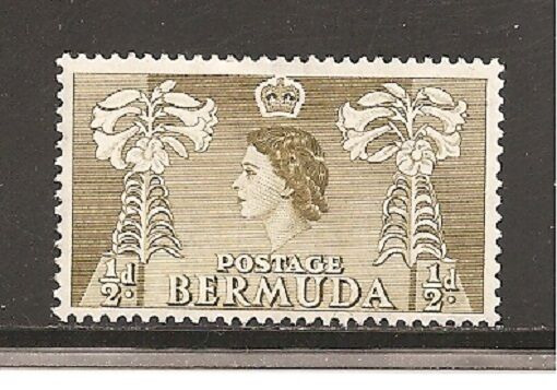 Bermuda Stamps Scott # 143/A27- 1/2p-Mint/LH-1953-58-OG