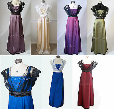 Edwardian Titanic evening dress Handmade in UK  Rose dress 4-26 by Mona Bocca