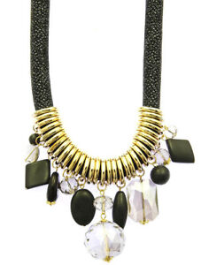 Chunky-Bead-Bib-Black-and-Gold-Evening-Necklace
