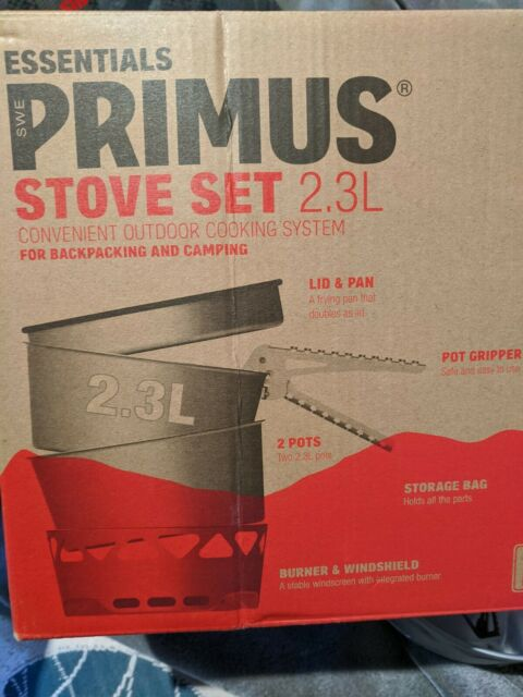 Primus Essential Stove Set - 2.3L, Outdoor Cooking Camping Backpacking Swedish