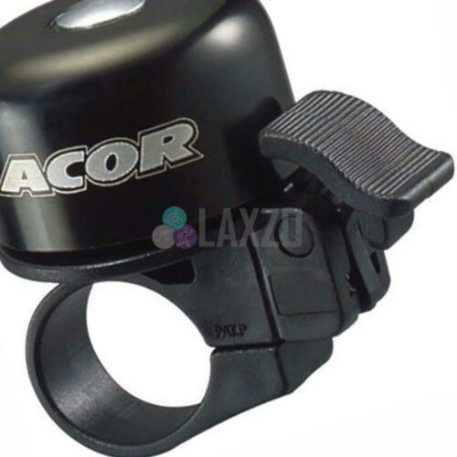 Acor Bicycle Bike Ergonomic Lever Mini Bell with Standard Clamp Black