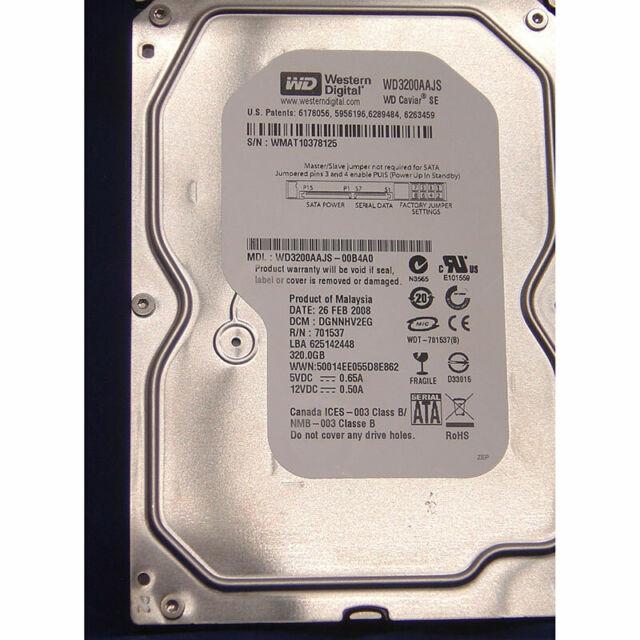 Western Digital 320GB, 7200RPM, SATA - WD3200AAJS-00B4A0