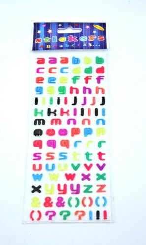 Letter Numbers and Symbols Alphabet craft coloured Sticker Sheet A-Z Melbourne
