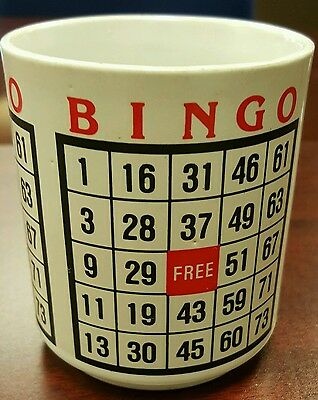 Bingo Coffee Mug Playing Card With Free Space Ebay