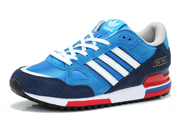 ADIDAS ORIGINALS ZX / 750 MENS TRAINERS BLUEBIRD / ZX WHITE / RED UK SIZES 7 TO 12 a380e6