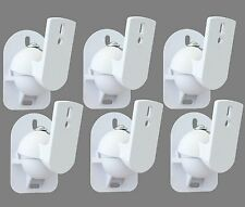 6 White Surround sound speaker wall brackets Universal