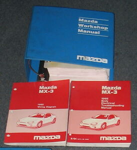 1995 mazda mx 3 service workshop manual set with wiring diagrams ebayimage is loading 1995 mazda mx 3 service workshop manual set