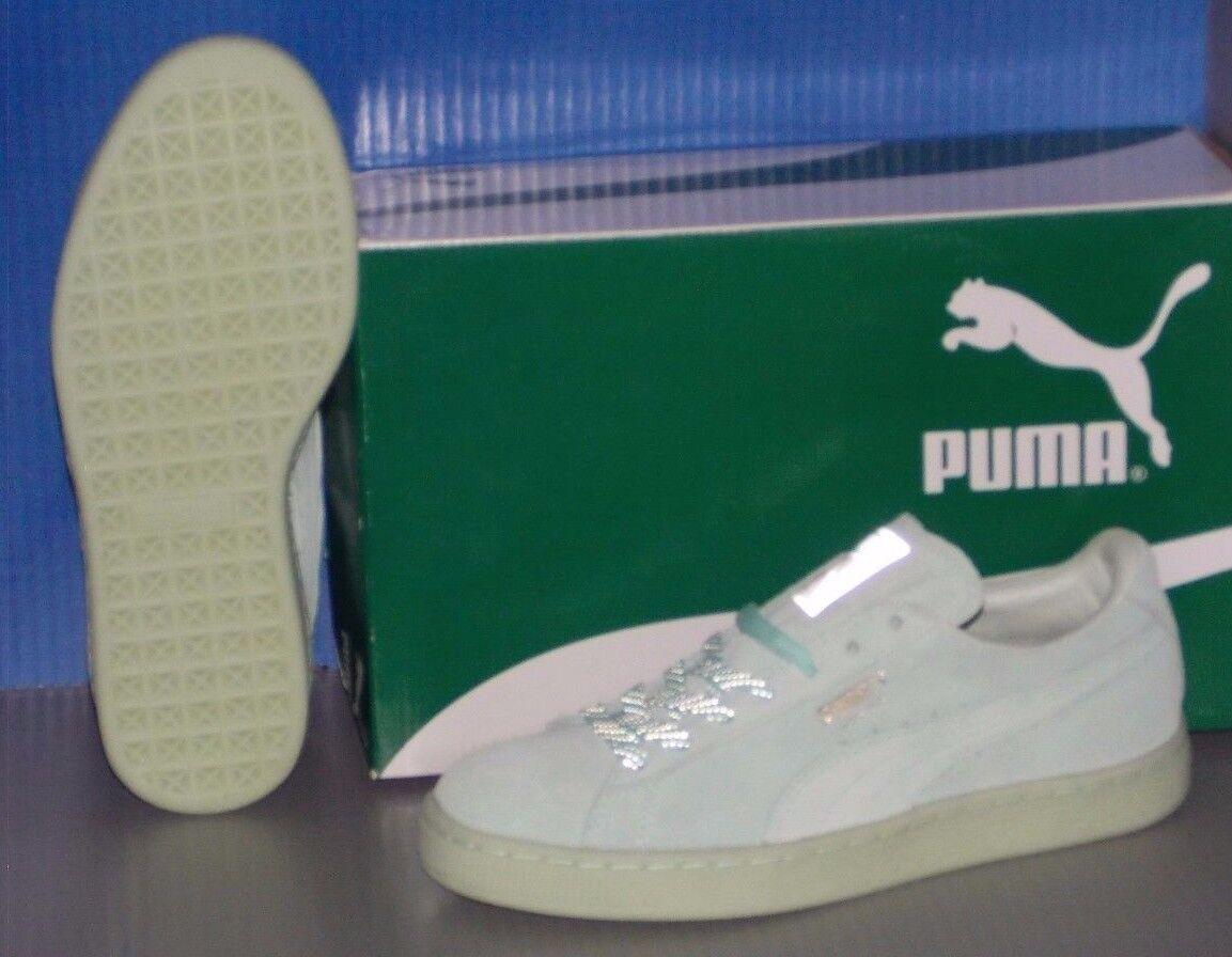 Damenschuhe PUMA SUEDE CLASSIC MONO REFLCED in colors colors in BAY / PUMA SILVER SIZE 8 68f7b3