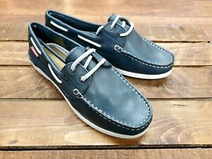 Womens Navy Blue Boat Deck Shoes