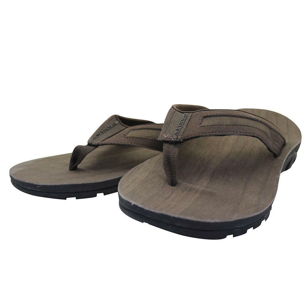 Oakley METHANE Sandals Size 10 US Earth Brown Mens Flip Flop Casual Thongs